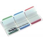 Banderitas separadoras post-index color verde rojo y azul dispensador funda 3x22