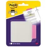 Banderitas separadoras rigidas con pestaña 85,7x69,8 mm blister con 10 unidades color rosa