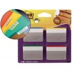 Banderitas separadoras rigidas dispensador 4 colores Post-it index grandes 24 banderitas