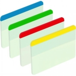 Post-it 70071425006 - Banderitas separadoras rigidas, grandes, pack de 4 con 24 hojas ( 6 hojas por color )