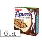 Barrita de cereales fitness chocolate paquete de 6 unidades