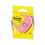 Blister papelería 3m cubo de notas post-it troquelado corazon 3 colores neon