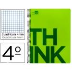 Bloc Cuarto Liderpapel serie Think cuadricula 4 mm verde
