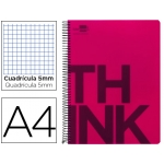 Bloc Din A4 Liderpapel serie Think cuadricula 5 mm rojo