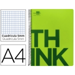 Bloc Din A4 Liderpapel serie Think cuadricula 5 mm verde