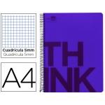 Bloc Din A4 Liderpapel serie Think cuadricula 5 mm violeta