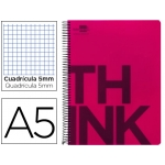 Bloc Din A5 Liderpapel serie Think cuadricula 5 mm rojo