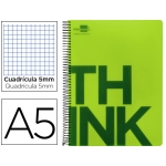 Bloc Din A5 Liderpapel serie Think cuadricula 5 mm verde