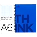 Bloc Din A6 Liderpapel serie Think cuadricula 5 mm azul