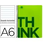 Bloc Din A6 Liderpapel serie Think rayado verde