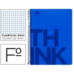 Bloc Folio Liderpapel serie Think cuadricula 4 mm azul