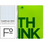 Bloc Folio Liderpapel serie Think cuadricula 4 mm verde