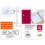 Bloc bufete Liderpapel 110x80 mm 80 grs catalán