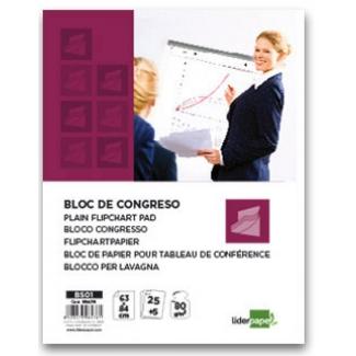 Bloc congreso Liderpapel liso 63x84 cm 25+5 hojas 80 gr/m2