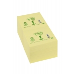 Bloc de 100 notas adhesivas quita y pon Post-it 76x76 mm papel reciclado