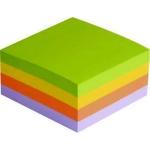 Bloc de 320 notas adhesivas quita y pon Q-Connect 75x75 mm colores amarillo, naranja, lila y verde