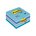 Bloc de 450 notas adhesivas quita y pon Post-it 76x76 mm color azul multicolor