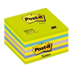 Bloc de 450 notas adhesivas quita y pon Post-it 76x76 mm colores verde, amarillo, azul y violeta