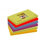 Bloc de 90 notas adhesivas quita y pon Post-it super sticky 76x127 mm pack de 6 blocs colores surtidos marrakesh