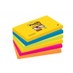 Bloc de 90 notas adhesivas quita y pon Post-it super sticky 76x127 mm pack de 6 blocs colores surtidos río de janeiro