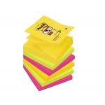 Bloc de 90 notas adhesivas quita y pon Post-it super sticky 76x76 mm z-notes pack de 6 bloc colores surtidos río de janeiro