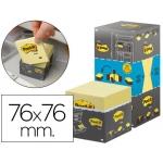 Bloc de notas adhesivas quita y pon 76x76 mm pack de 16 blocs