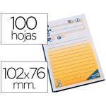 Bloc de notas adhesivas quita y pon Post-it 102x76 mm telefónico