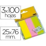 Bloc de notas adhesivas quita y pon Post-it 671/3 mininotas rosa/verde/amarillo neon