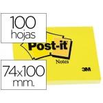 Bloc de notas adhesivas quita y pon Post-it 74x100 mm con 100 hojas 657