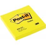 Bloc de 100 notas adhesivas quita y pon Post-it 76x76 mm color amarillo neon
