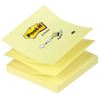 Bloc de 100 notas adhesivas quita y pon Post-it 76x76 mm z-notes
