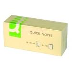 Bloc de 100 notas adhesivas quita y pon Q-connect 40x50 mm