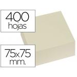 Bloc de notas adhesivas quita y pon Q-connect 75x75 mm color amarillo con 400 hojas