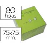Bloc de notas adhesivas quita y pon Q-connect 75x75 mm color verde neon 80 hojas