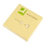 Bloc de 100 notas adhesivas quita y pon Q-Connect 75x75 mm