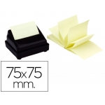 Bloc de notas adhesivas quita y pon Q-connect 75x75 mm zig-zag