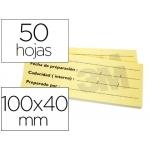 Bloc de notas adhesivas trazabilidad para alimentos Post-it 100 x 40 mm con 50 hojas