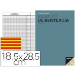 Bloc de registro Additio de asistencia 18,5x 28,5 cm en catalan