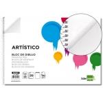 Bloc dibujo Liderpapel artístico espiral 230x325 mm 20 hojas 130 gr/m2 sin recuadricula de 2 taladros