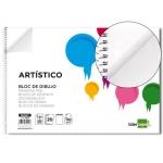 Bloc dibujo Liderpapel artístico espiral 230x325 mm 20 hojas 130 gr/m2 sin recuadro