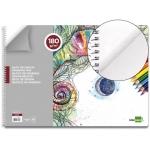 Bloc dibujo Liderpapel artístico espiral 460x325 mm 20 hojas 180 gr/m2 sin recuadro