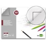 Bloc dibujo Liderpapel lineal encolado 230x325 mm 20 hojas 180 gr/m2 con recuadro