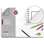 Bloc dibujo Liderpapel lineal espiral 230x325 mm 20 hojas 180 gr/m2 con recuadro