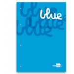 Bloc encolado Liderpapel cuadrícula de 5 mm color azul tamaño A4 natural 100 hojas 100 gr/m2
