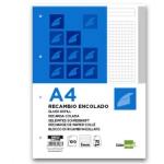 Bloc encolado Liderpapel cuadrícula de 5 mm color gris tamaño A4 apaisado 100 hojas 70 gr/m2