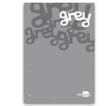 Bloc encolado Liderpapel cuadrícula de 5 mm color gris tamaño A4 natural 100 hojas 100 gr/m2