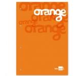 Bloc encolado Liderpapel cuadrícula de 5 mm color naranja tamaño A4 natural100 hojas 100 gr/m2