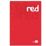 Bloc encolado Liderpapel cuadrícula de 5 mm color rojo tamaño A4 natural 100 hojas 100 gr/m2