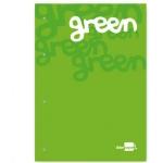 Bloc encolado Liderpapel cuadrícula de 5 mm color verde tamaño A4 natural 100 hojas 100 gr/m2