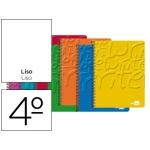 Bloc espiral Liderpapel tamaño cuarto write tapa cartóncillo 80 hojas 60gliso colores surtidos
